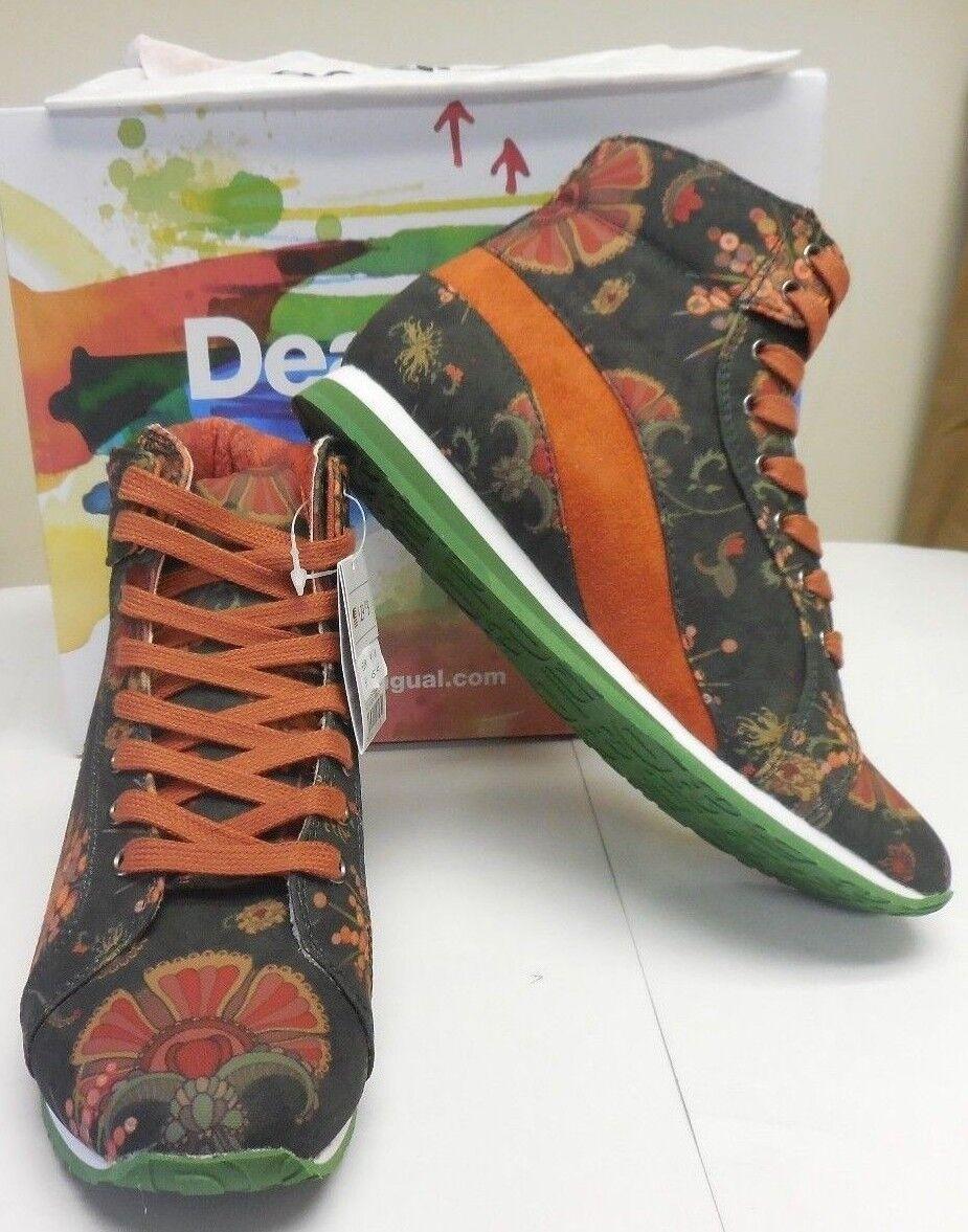 Desigual Authentic Authentic Authentic Para Mujer De Lona Floral Denpasar Zapatillas Zapatos 28ks373-4029  comprar nuevo barato