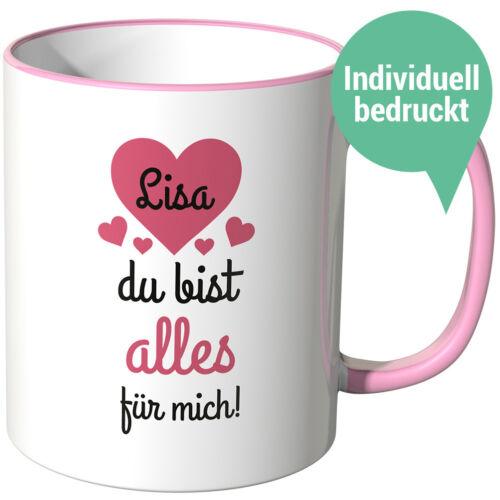 """Juniwords Tasse Motifs Cadeau Amour slogan /""""Wunschname amour tasses/"""" Diff"""