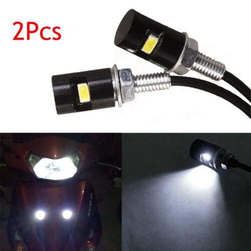 2x White Light12V Bolt-On LED License Plate Light For Car or Motorcycle SUV MVP