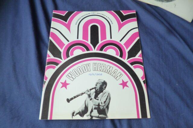 Rare Vintage, WOODY HERMAN jazz Band original 1968 UK concert tour program