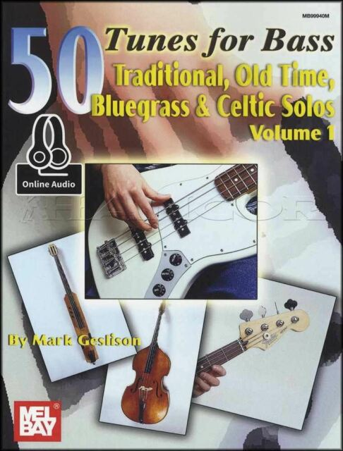 50 Tunes for Bass Guitar TAB Music Book & Audio Vol 1 Bluegrass Old-Time Celtic