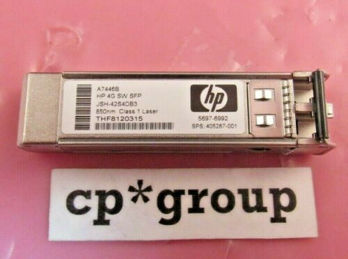 LOT OF 16 Genuine HP A7446B StorageWorks 4G SW SFP Transceiver Module 405287-001
