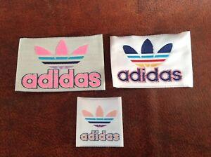 Deducir cooperar Nosotros mismos  3 x Vintage 80's Authentic ADIDAS Logo Label Jersey Patch Embroidery USA |  eBay