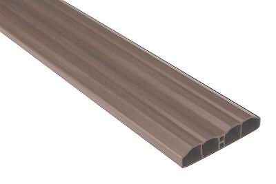 40 Meter Zaunlatten Gartenzaun Balkonbretter Kunststoffzaun PVC braun PZL-09