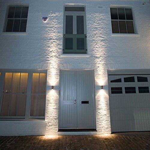 Illucio acier inoxydable Up Down Wall Light GU10 IP44 double extérieur extérieur double jardin murale 81799a