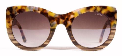 Guess Sunglasses GU 7485 53F Transparent Blonde Havana Stripe Msrp $115.00