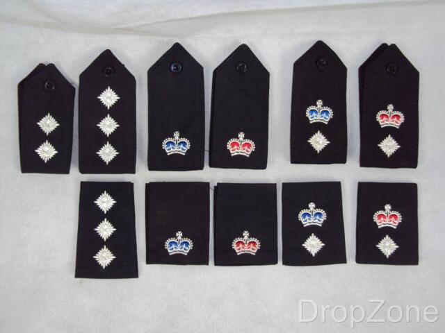 Obsolete Pair of Police Senior Officer's Rank Epaulettes, Button Down or Slides