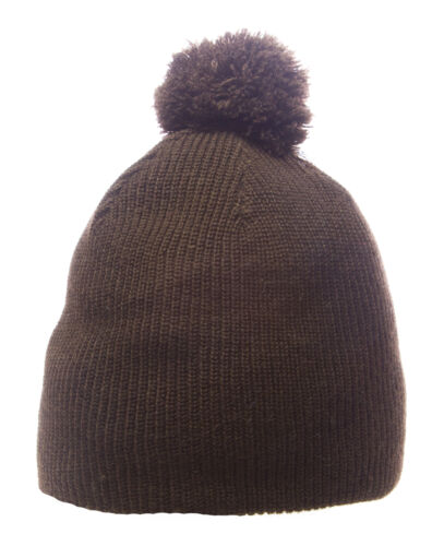 TOPMAN Kid/'s Brown Solid Knitted Winter Pom Pom Cap 56D13C One Size NWT $20