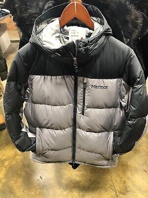 Puffer Jacket Black NWT NWT MARMOT BOY/'S GUIDES DOWN HOODY
