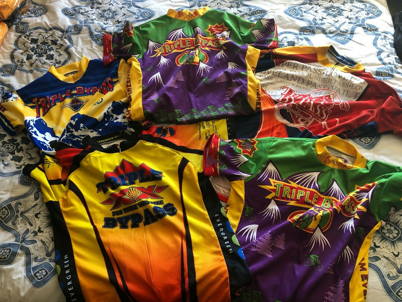 Triple Bypass Cycling Jersey Lot (5 jerseys) Collection - Primal EUC