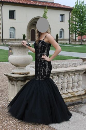 Black, dress, formal dress, pageant gown, Prom dre
