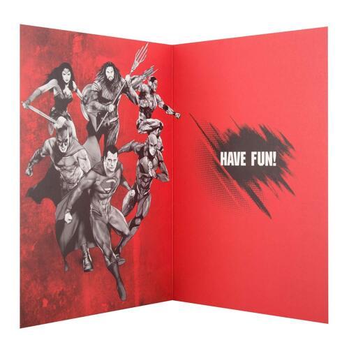 Hallmark Justice League CARTE D/'ANNIVERSAIRE ENVELOPPE-DC Carte de vœux Super Hero