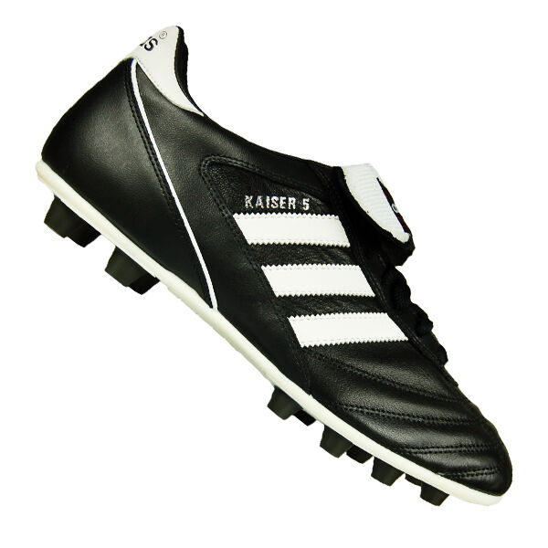 new product f0fec 8f6a7 adidas Mens Football Soccer Kaiser 5 Liga BOOTS Leather Black White Red 40  for sale online   eBay