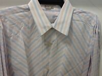 Tulliano Men's Designer Shirt - Pink Stripped Big & Tall Sizes With Tags