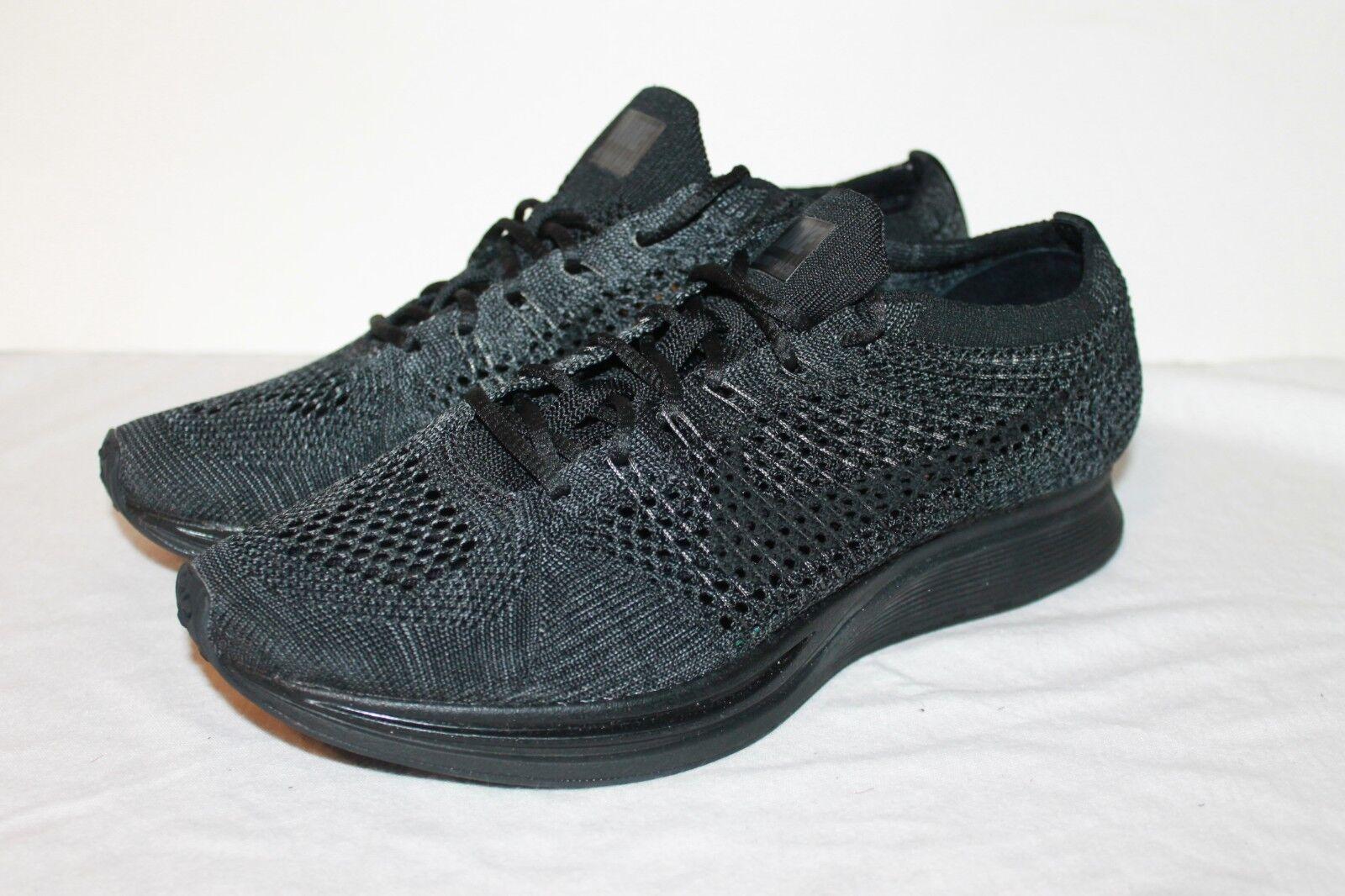 Nike Flyknit Racer Triple Black Anthracite 526628-009 US Size MEN 6.5 WOMEN 8