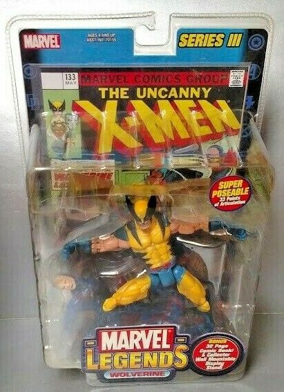 2002 ToyBiz Marvel Legends Series 3 III WOLVERINE MASKED Figure New Sealed