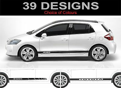 toyota auris side stripe decals stickers graphics trd 2 off