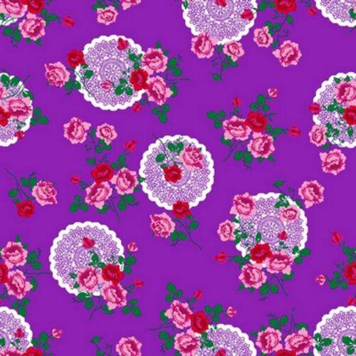 Klebefolie Flowers purple Blumen Lila selbstklebende Folie Möbelfolie 45x200 cm