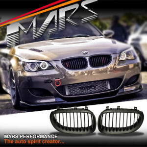 1d0f9cf3ac Matt Black M5 Style Bumper Bar Kidney Grille Grill for BMW 5-Series ...