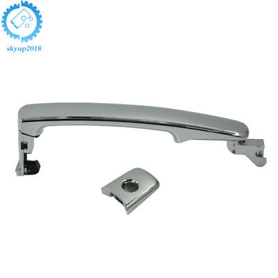 Front Left Driver Side Outside Exterior Chrome Door Handle Perfect Replacement for Nissan Murano Rogue Infiniti FX35 FX45 80640-CA012 80645-CA000