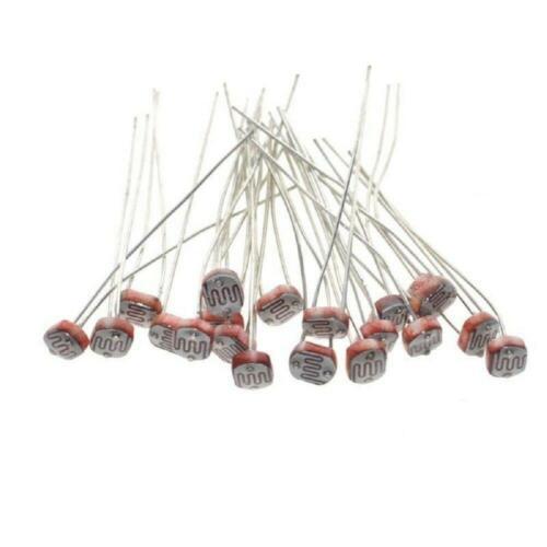 100PCS 5537 5MM 18K-50K Photoresistor Light-Dependent Resistor Sensor GL5537 USA