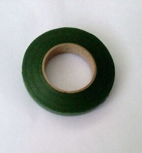 1 Roll Green Moss Florist Tape Ideal Stem Wrapping Flower Bouquets, Buttonholes