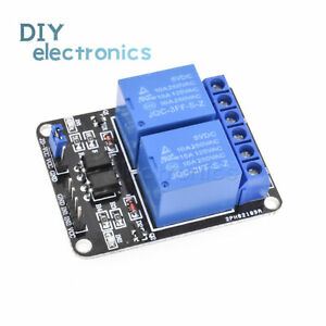 Details about 5V 2 Channel Relay Module Relay Expansion Board With  Optocoupler Protection