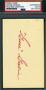 Goose-Goslin-Psa-Dna-Autograph-3x5-Index-Card-Authentic-Hand-Signed
