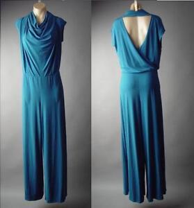 Jewel-Tone-Draped-Cowl-Neck-Low-Cut-Open-Back-Dress-Pant-157-mv-Jumpsuit-2XL-3XL