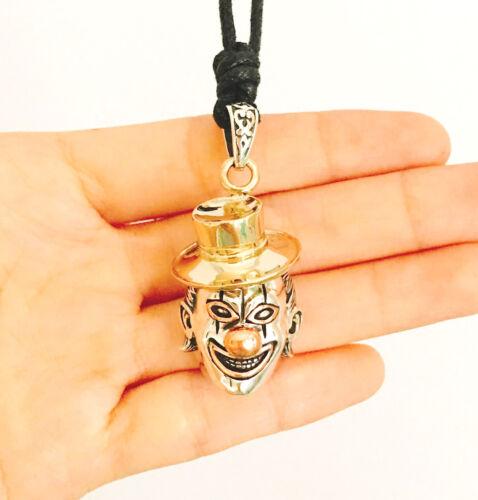Clown Mime Cirque Art 92.5 Sterling Silver Charm Collier lateur à travers Bijoux