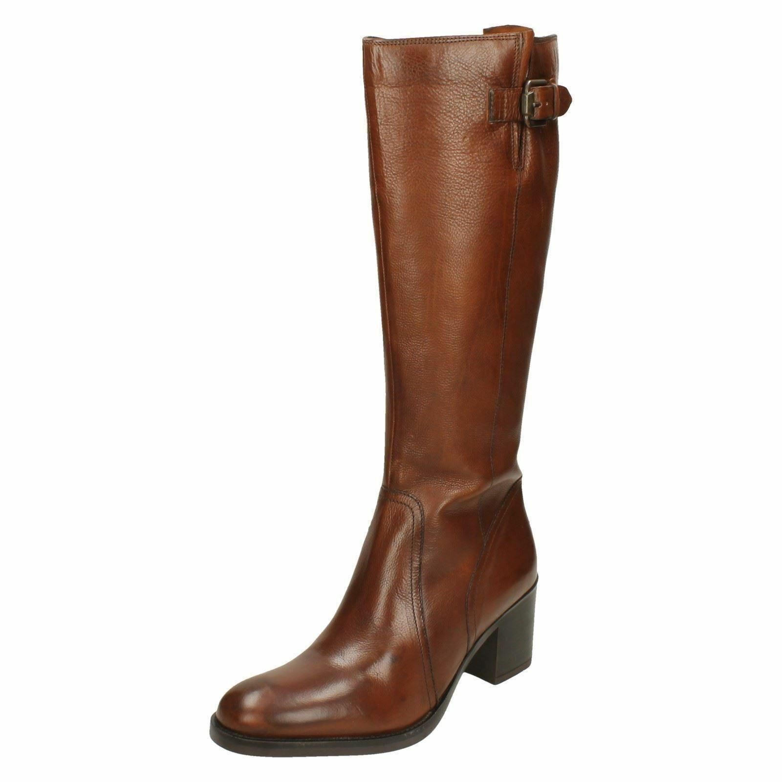1f11b000ad7 Ladies Clarks Heeled Knee High BOOTS  mascarpone Ela