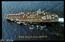 USS Harry S. Truman CVN-75 postcard US Navy nuclear-powered aircraft carrier