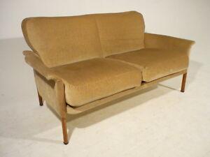 Details about Vintage 60\'s Loveseat Settee Sofa Mid Century Danish Modern  Wegner/Olsen Era