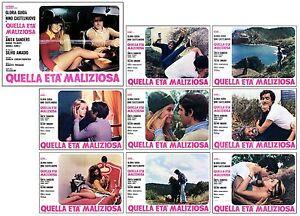 QUELLA ETA' MALIZIOSA SET FOTOBUSTA 8+SOGG. GLORIA GUIDA SEXY 1975 LOBBY CARD