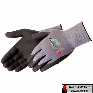 LIBERTY G-GRIP WORK GLOVES FOAM NITRILE PALM F4600 (12 PAIR) CHOOSE YOUR SIZE