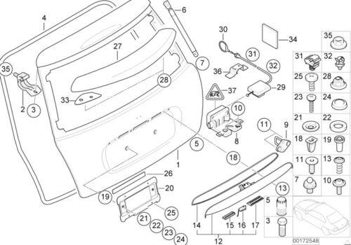 MINI Genuine Handle Grip Trunk Lid Boot Closing System Primed 51137075582