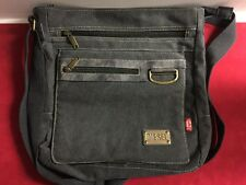 Diesel Spare Parts Faded Black Unisex Canvas Messenger Crossbody Bag