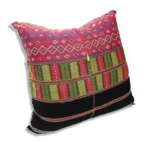 Authentic-Karen-Hilltribe-fabric-Cushion-Large-50cm-KC10-Handmade-in-Thailand