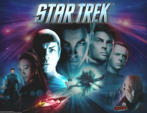Free Shipping Stern Star Trek Premium Pinball Machine Translite 830-52E5-00 NOS