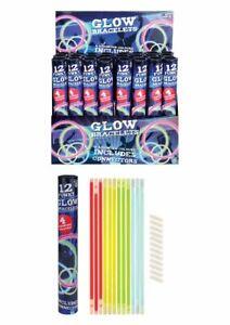 12-Glow-Stick-Bracelets-Kids-Party-Bag-Fillers-Glow-In-Dark-Sensory-Toy