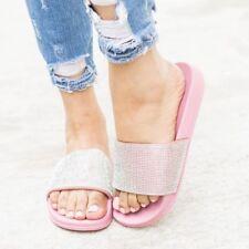 b90cea691 item 1 New Rhinestone Crystal Wide Band Open Toe Slides Flat Sandal Shoes Flip  Flops US -New Rhinestone Crystal Wide Band Open Toe Slides Flat Sandal  Shoes ...