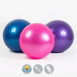 Eg-65cm-Prova-di-Esplosione-Spessa-Yoga-Spiky-Massage-Palla-con-Pompa-Nuovo