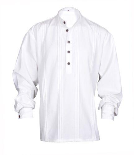 Gothic Renaissance Pirate White Casual Shirt Captain Caribbean Hippie Men