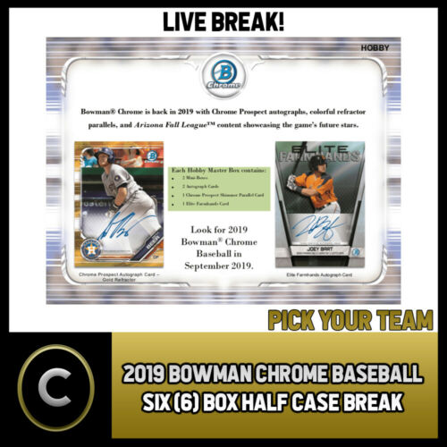 2018 BOWMAN DRAFT SUPER JUMBO BASEBALL 6 BOX RANDOM FULL CASE BREAK #A113