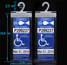 2 x Handicap Disabled Parking Permit Placard Protector Holder Mirror Tag Sleeve