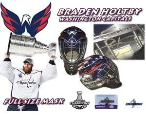 Braden Holtby Signed Washington Capitals Full Size Goalie Mask 2018 Cup Champs Ebay