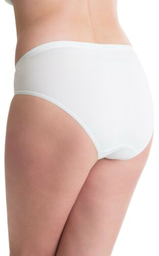 Passionelle Pack of 6 Womens White Designer High Leg Knickers Bikini Briefs