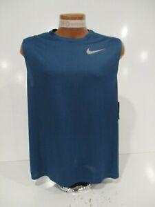 f543dc5e13f7f Men s Nike Breathe Dri-Fit Running Tank Top Sz S-L Blue 904481-816 ...