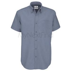 B-amp-C-Collection-Mens-Fashion-Oxford-Short-Sleeve-Shirt