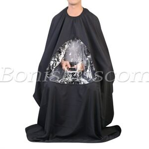 Pro-Salon-Hair-Cutting-Haircut-Cloth-Barber-Cape-Apron-Gown-with-Phone-Viewing